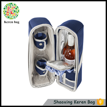 KEREN hot selling deluxe polyester wine gift set cooler pouch bag