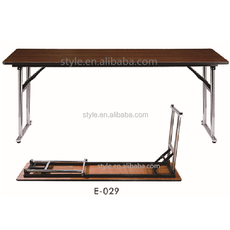 E-029 stainless steel types banquet table leg folding rectangle table for sale