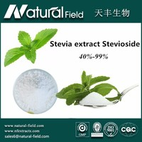 Factory direct 100% natural stevia leaf extract stevioside 40% powder