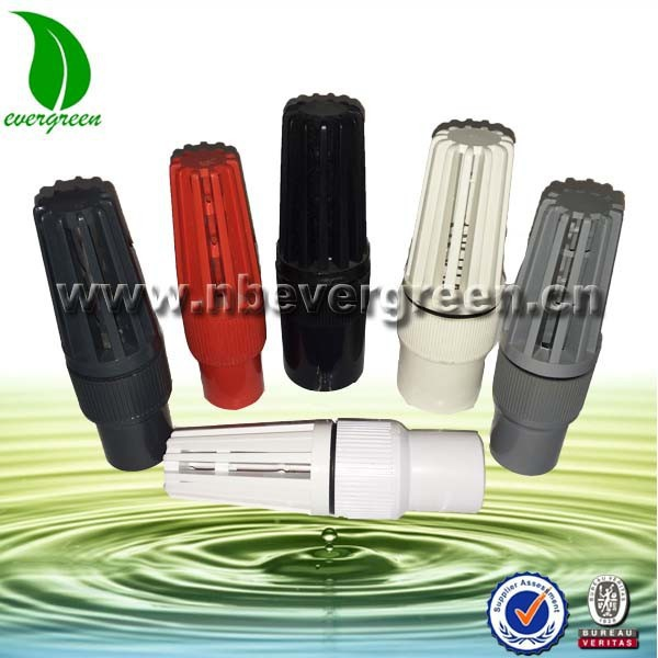 Plastic pvc foot valve with strainer buy water pump