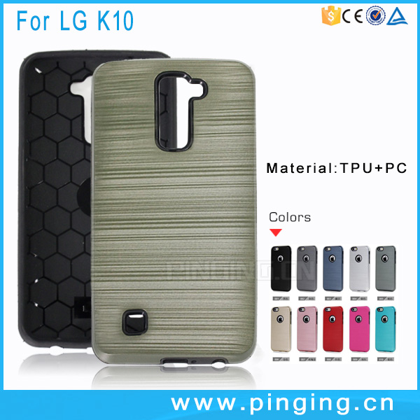 2 in 1 Soft TPU Hard PC Hair Line Armor Case For LG <strong>K10</strong> Cover