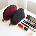 Laser cutting eco friendly felt cosmetic pouch felt makeup bag