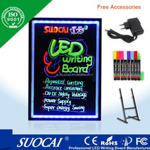 New Style made in china wholesale battery powered neon led menu sign board erasable and druable