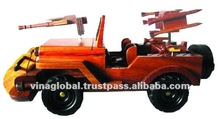 Handmade Wooden Armed Toy Cars