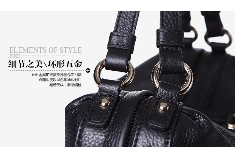 bulk order from China manufacturer genuine leather handbag