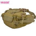 2018 khaki color army camouflage tactical waist bag riding travel mountaineering waist bag for men