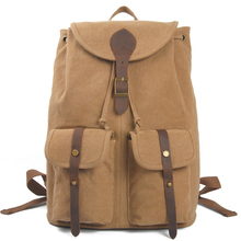 New style canvas backpack blank canvas bag <strong>school</strong> outdoor