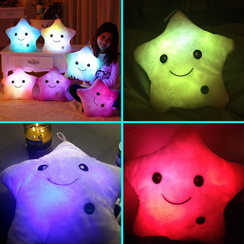 Marketable products Stuffed Dolls, LED Stars Light Luminous Plush Pillow, Cushion Light Up Toy