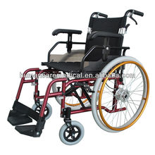 Ce folding wheelchair with adjustable armrest
