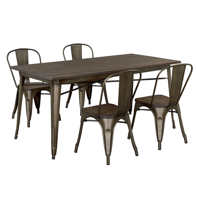modern furniture japanese dining set 6 chairs and metal dinning table