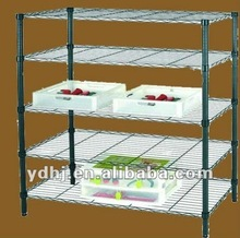 High Capacity and Adjustable Chrome Stacking Wire Shelving with Casters YD-073