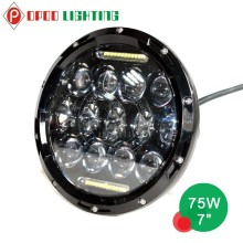 "For jeep with day time running light 75w 7"" led headlight"