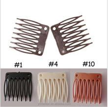 100pcs/lot Plastic Wig Combs Clips 7 Teeth Hair Extension Clip For Making Weaves Wig Caps
