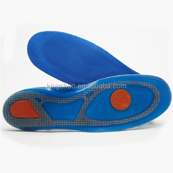 Full Length Silicone Gel Insoles Medical Metatarsal Pad Silicone Massaging Insoles KS 1090