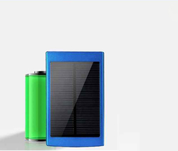 Factory direct deal Power Banks 5V 2.1A double usb Solar Power Bank 7500mah