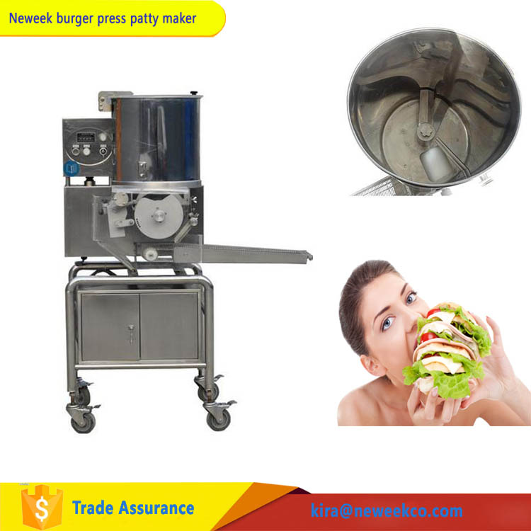 NEWEEK mold customized beef pie meat patty filling hamburger patty making machine for sale