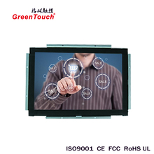 21.5- inch high resolution LCD Open Frame infrared Touch monitor for financial systems and advertisement show