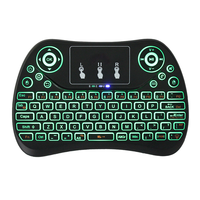 2018 colourful mini 2.4G wireless keyboard air mouse balcklit keybord mouse with touch pad