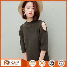 70% Acrylic 30% Wool womens pullover winter jackets