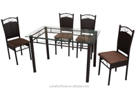 Best Sale Outdoor Furnture Metal Dinning Set Woven Rattan Furniture DS-815(1+4)