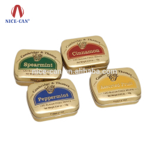 Nice-can China Guangzhou Tin Can Manufacturer Chewing Gum Boxes Packing Custom Printed Small Metal Gift Candy Mint Tin Boxes