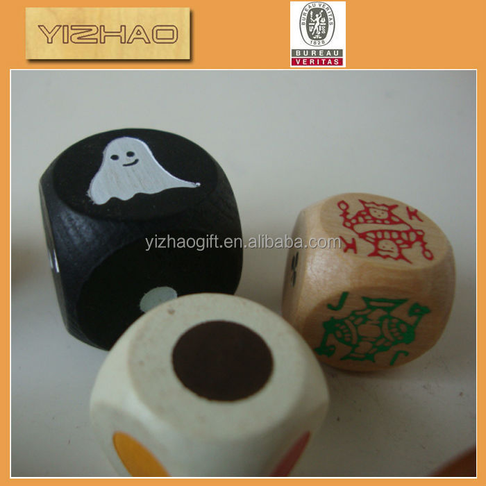 Wholesale Colorful Wooden Custom Dice,wooden mini furniture toys
