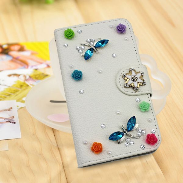 Bling bling diamond wallet leather case for Google Nexus 7