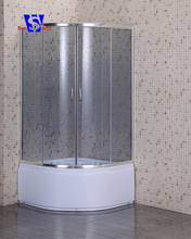 4mm Tempered glass white cheap shower cubicles sizes
