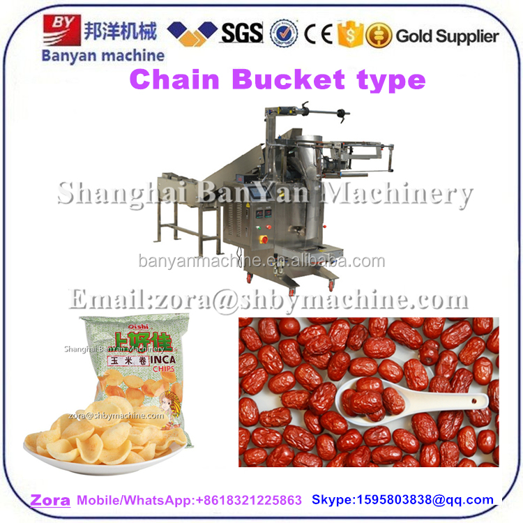 Automatic dry food potato plantain chips snack Food meat pasta nuts Packing Machine 500g 1000g