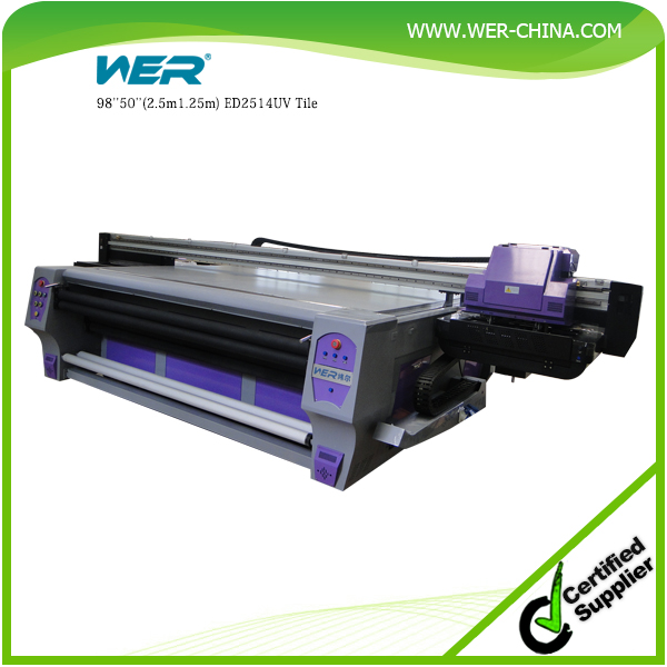 Hot Selling Dual heads uv LED inkjet flatbed printer for wood ,glass ,pvc card , ceramic and metal