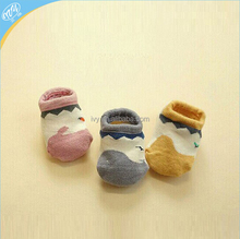 Baby anti slip socks, 100% cotton thin baby socks