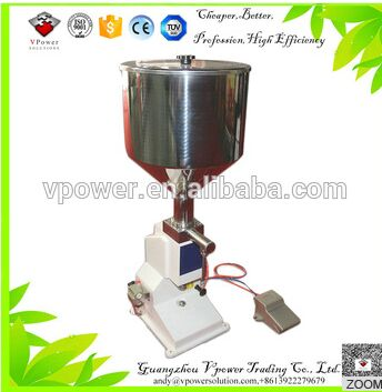2016 Hot sealing <strong>A02</strong> Pneumatic Paste Filling Machine accuracy easy clean nail polish bottle filling machine