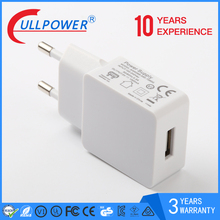 colorful slim output 5V1A usb travel charger for mobile phone