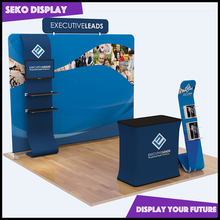 Exhibition booth design advertising stand pop up display