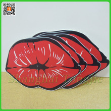 Lips shapes laser cut with PVC Sheet