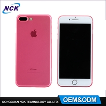 MOQ=100pcs free sample frosted effects ultra thin PP plastic case for iphone 7 7plus