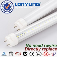 High quality!!! SMD UL ETL DLC certified magnetic ballast compatible plastic cover led fluorescent tube light