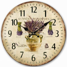 Wall painting wooden clock for office decoration