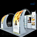 Curve aluminum truss exhibition booth stand design aluminum truss booth display