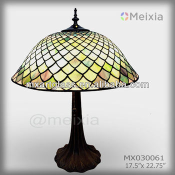 MX000061 china wholesale stained glass table lamp shade tiffany lamp shape for home decoration