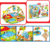 Popular cartoon animal comfortable soft plush kid play mat with sides