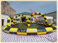 Rui Lin factory price inflatable race track for zorb ball race