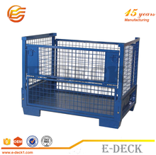 Wire mesh container/mesh box wire cage metal bin storage container/Foldable Mesh Box Pallet