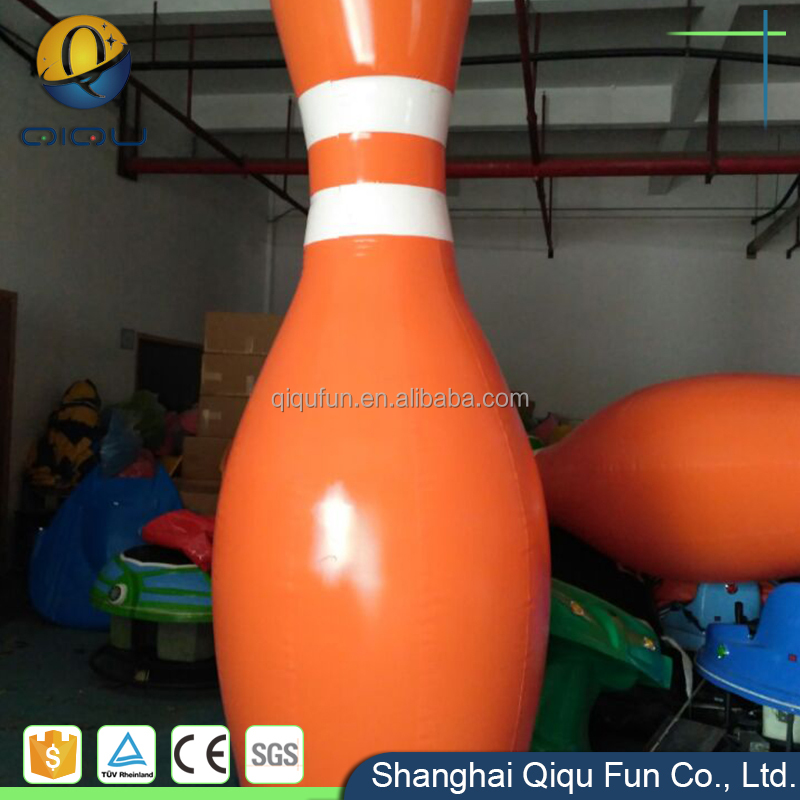 High quality 2017 newest pvc hot sale funny team building kids zrobing ball, inflatable human bowling pins for sport games sale