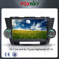 "10.1"" Full capacitive touch screen Andriod 4.1 car audio dvd For Toyota Highlander 2007-2015 with GPS/internet and all functions"