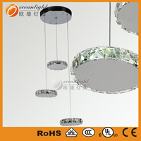 Stainless steel modern LED crystal led adjustable pendant lamp OM880146