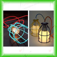 colorful metal Edison bulb lamp cage shade