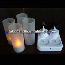rechargeable led candles tealight/White led candle