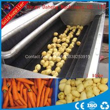 automatic stainless steel potato brush washer