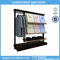 wooden display rack for clothes hanging